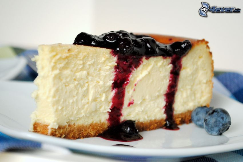 cheesecake, svarta vinbär