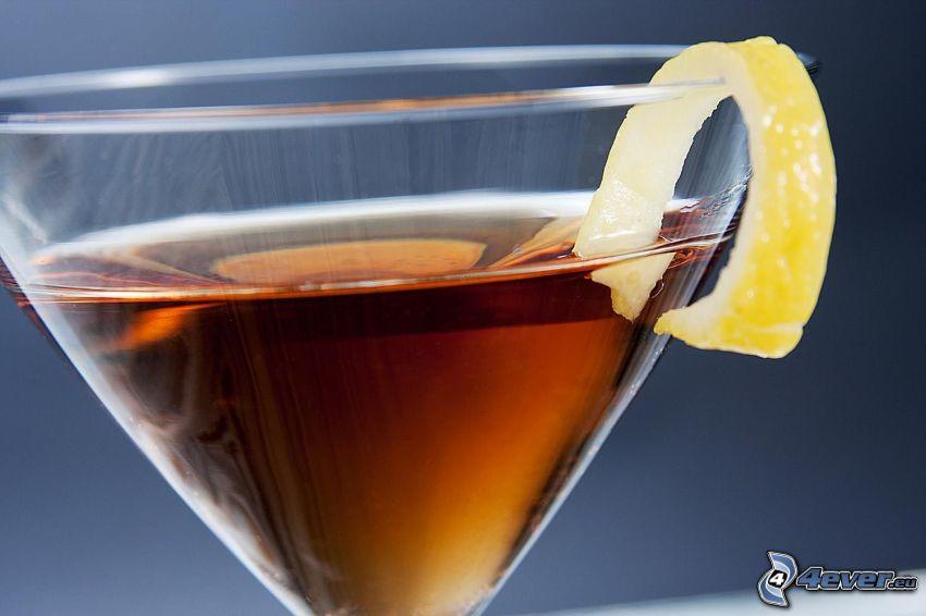 cocktail, citron