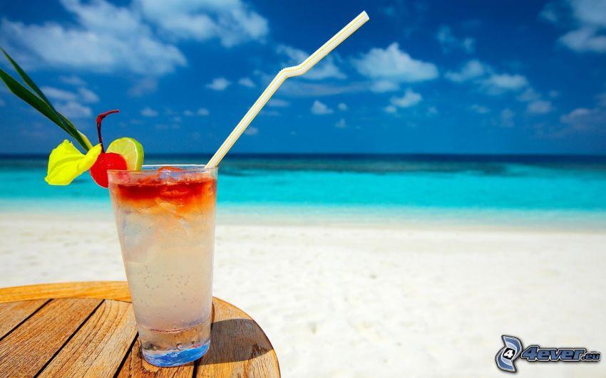 cocktail, hav, strand