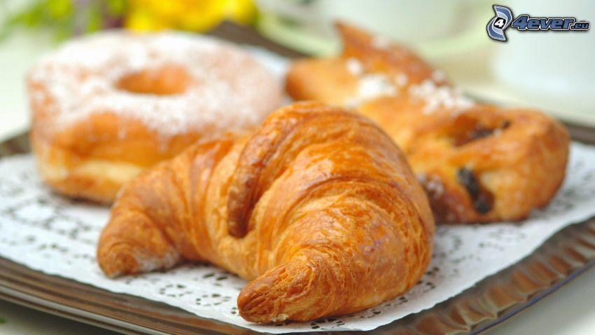 croissant, donut