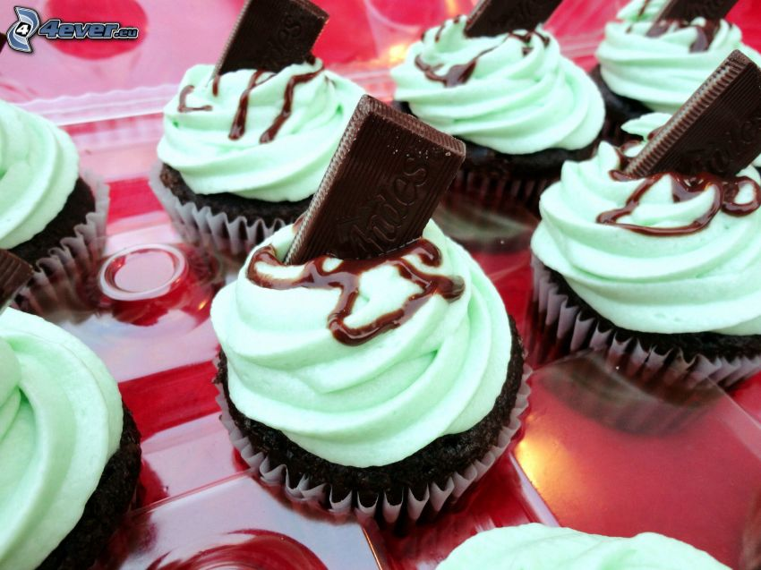 cupcakes, choklad