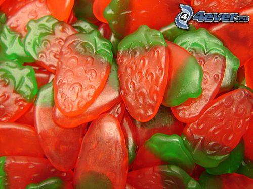 gelégodis, jordgubbar