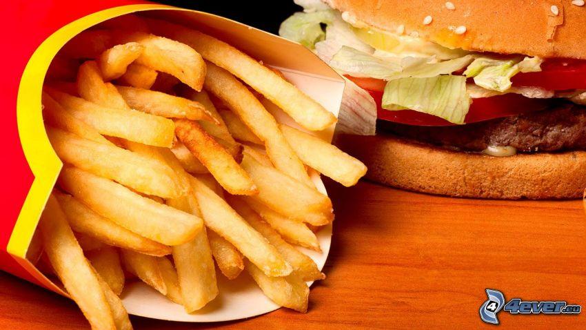 hamburgare med pommes frites, McDonald's