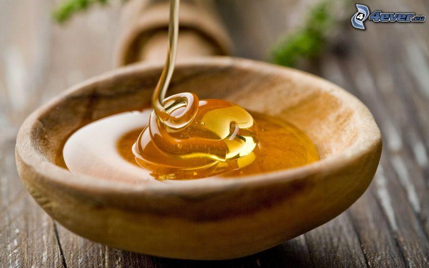 honung, sked