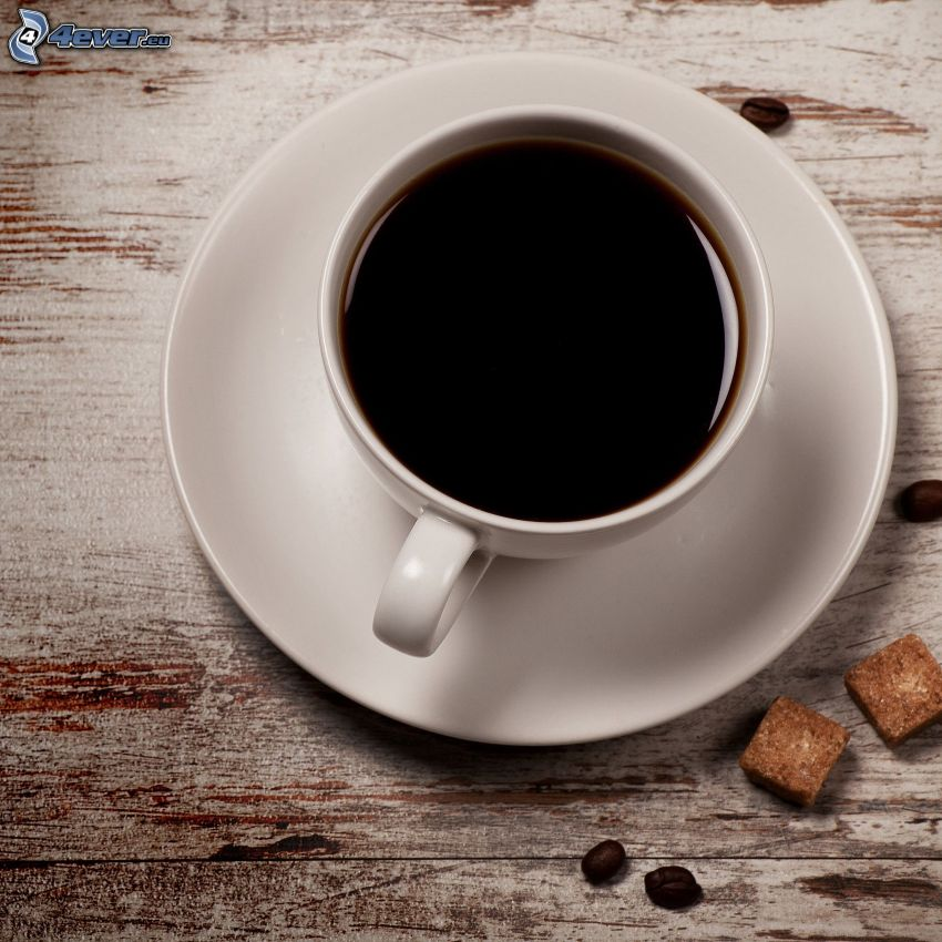 kaffekopp, farinsocker