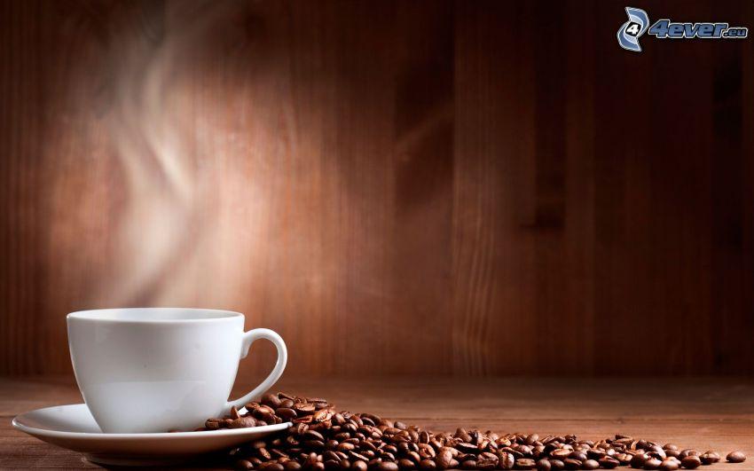 kaffekopp, kaffebönor