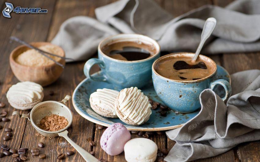 kaffekopp, kakor