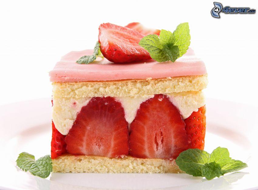 kaka, jordgubbar