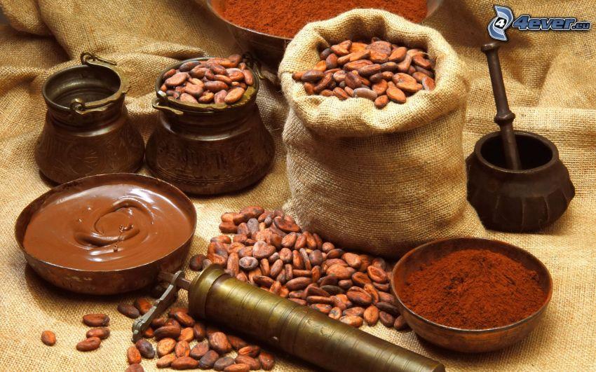 kakao, choklad