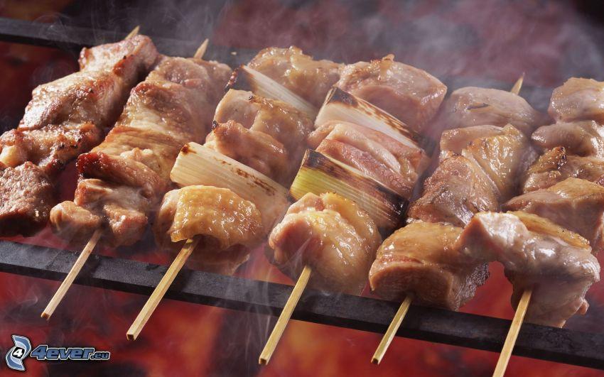 köttdelikatesser, grillat kött