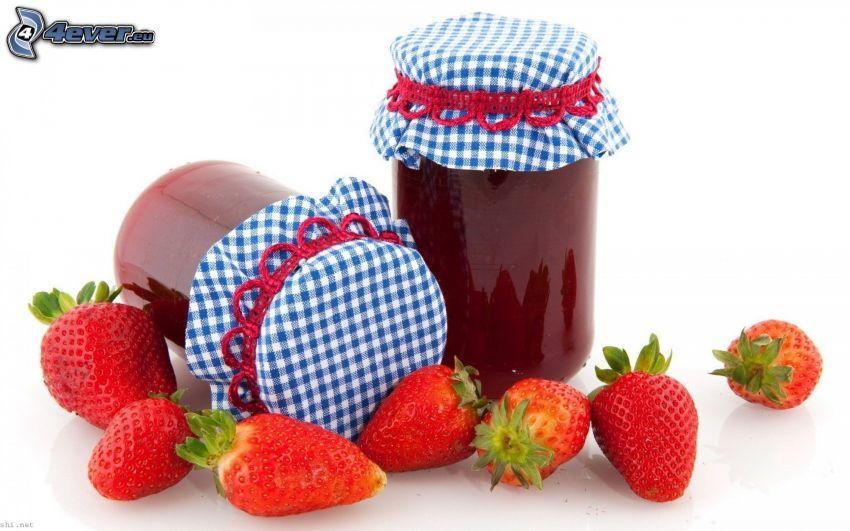 marmelad, jordgubbar