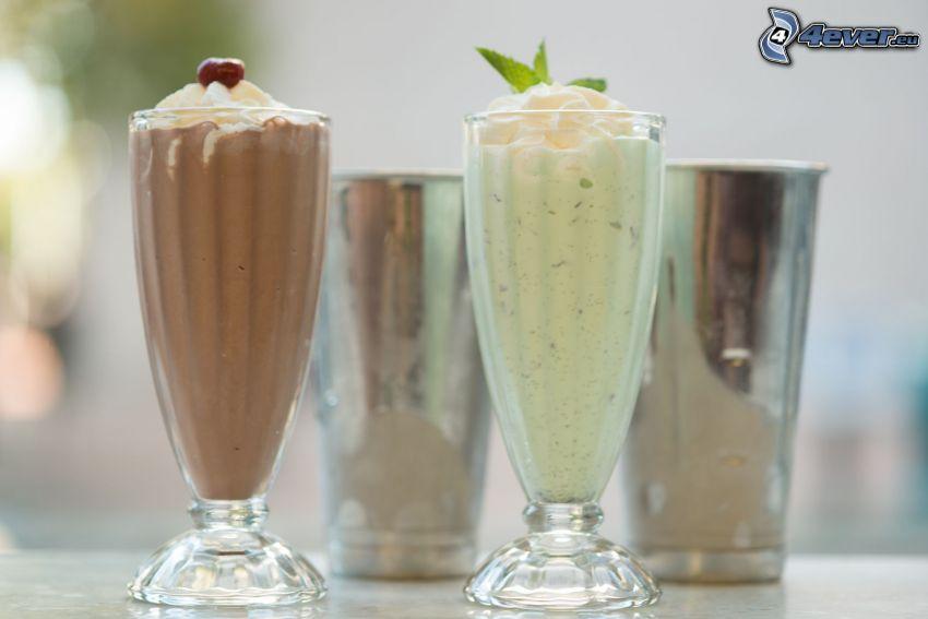 milk shake, grädde