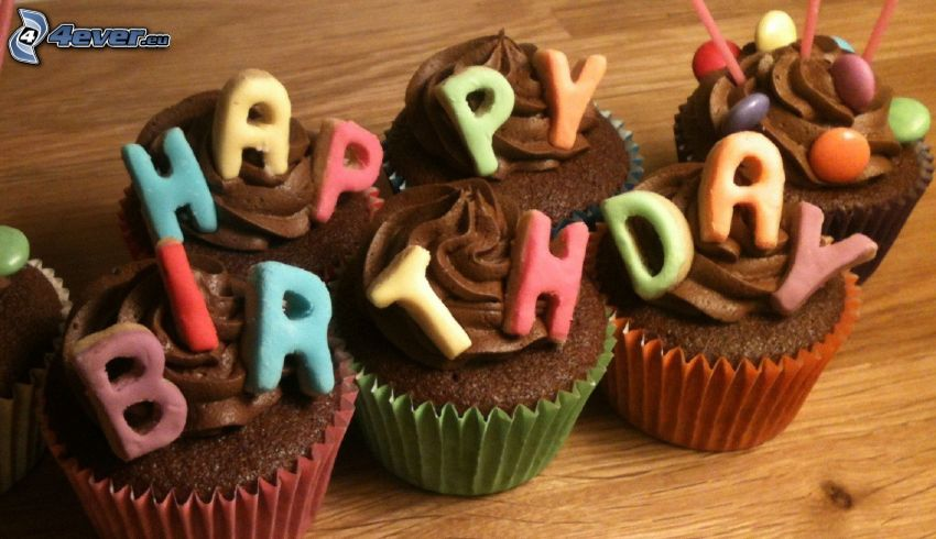 muffins, Happy Birthday