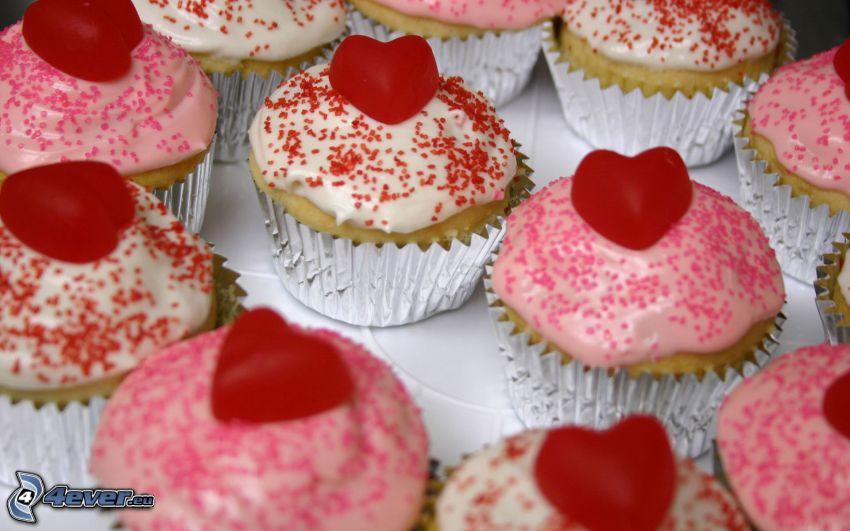 muffins, hjärtan