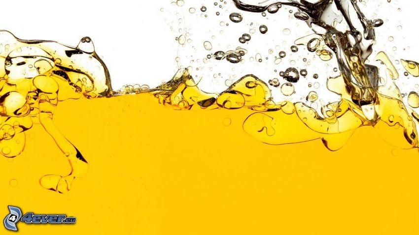 olja, vatten, plask