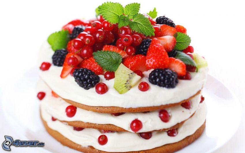 pannkakor, frukt