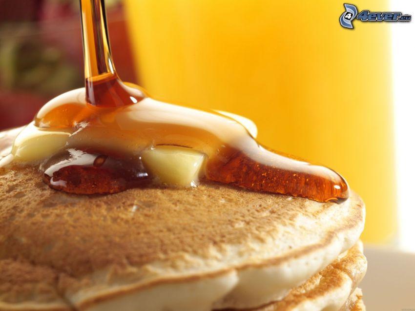 pannkakor, honung