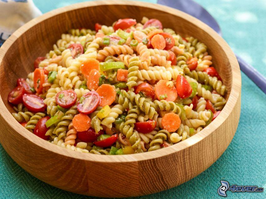 pastasallad, skål