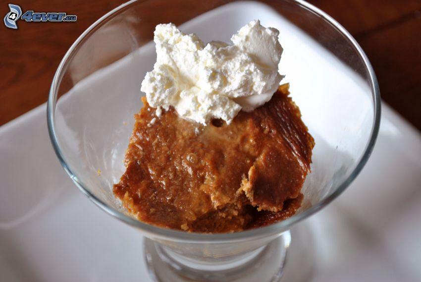 pudding, grädde