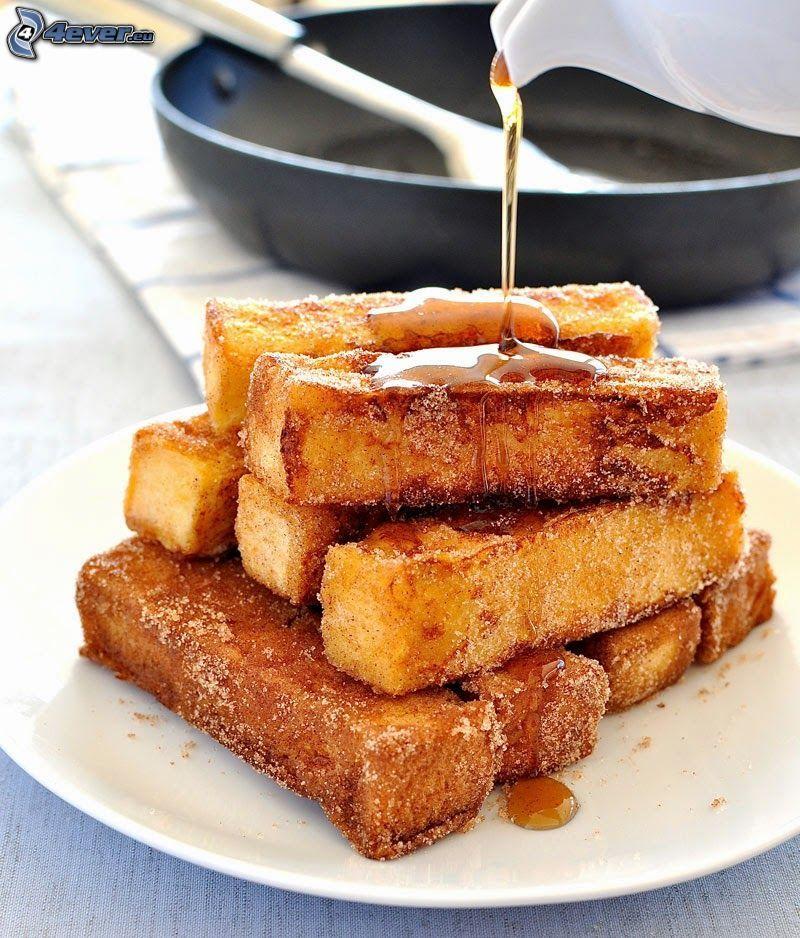 rostat bröd, honung