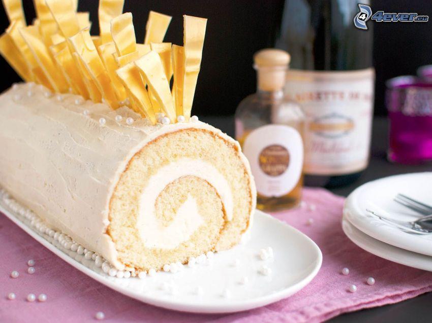 rulltårta, vit choklad