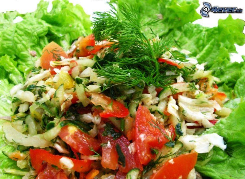 sallad, grönsaker