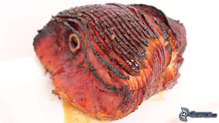 skinka, kött