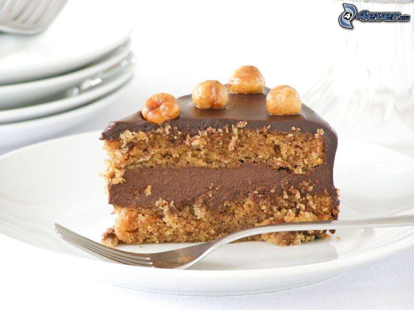 tårta, gaffel