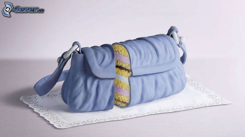 tårta, handväska