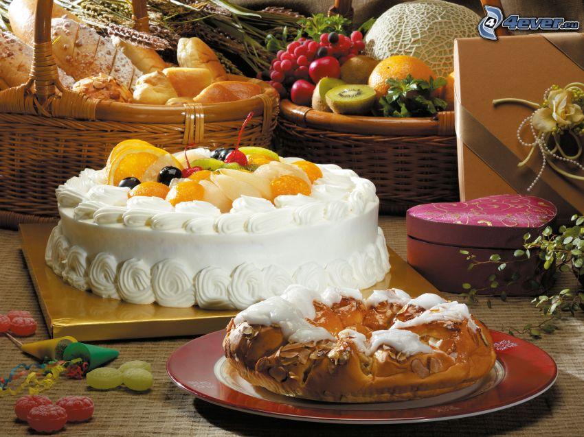 tårta, kaka