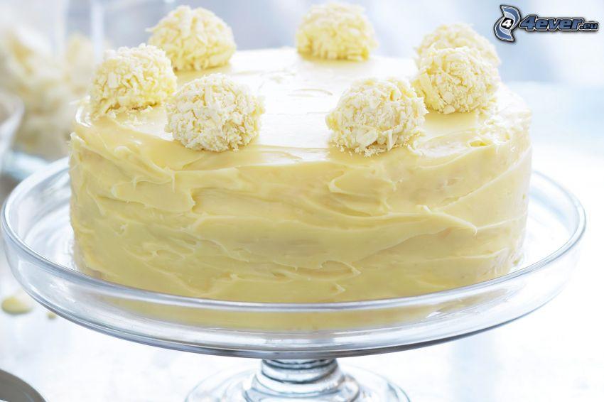 tårta, rafaelo, vit choklad