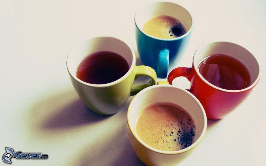 te, kaffe, koppar