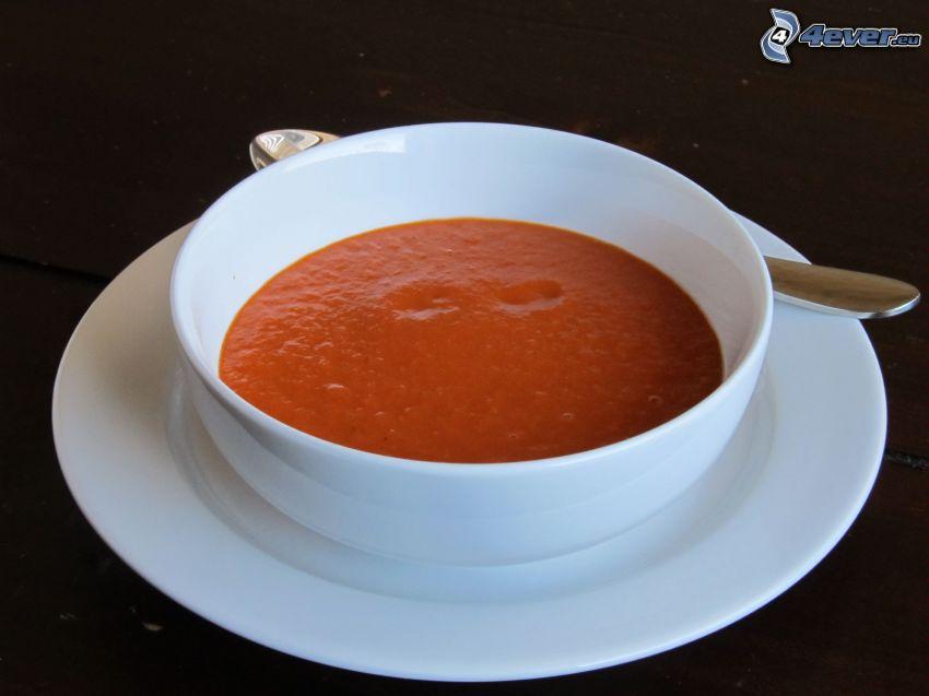 tomatsoppa, skål