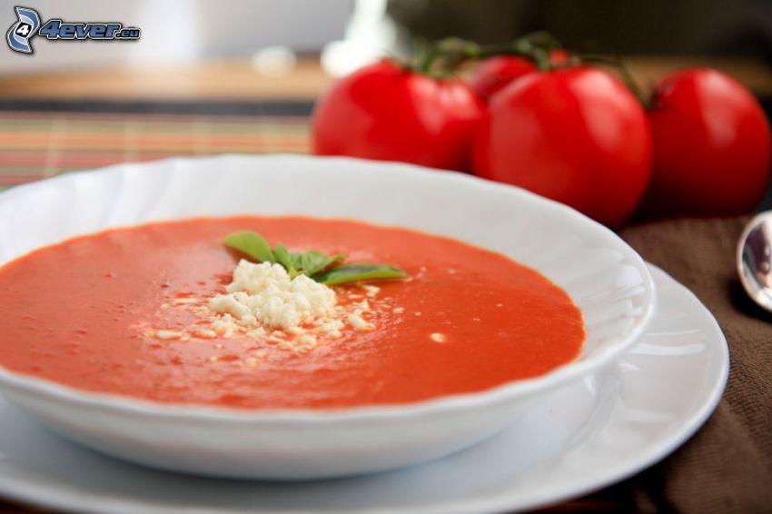 tomatsoppa, tomater
