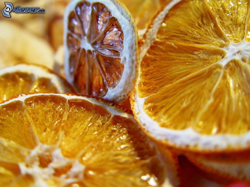 torkade apelsiner