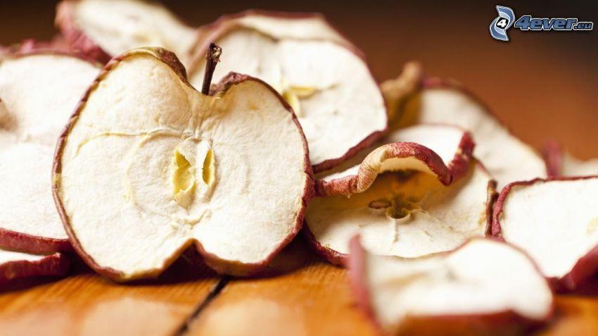 torkade äpplen