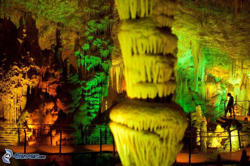 Avshalom, grotta, stalaktiter, trottoar