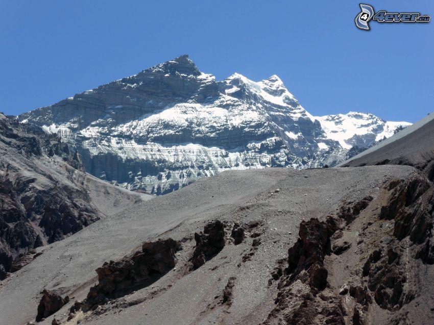 Aconcagua, klippigt berg