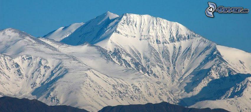 Aconcagua, snöklädda berg