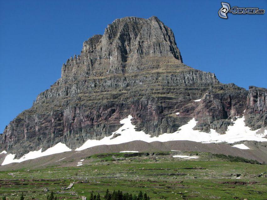 Chief Mountain, klippigt berg