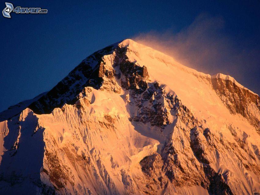 Cho Oyu, snöig backe