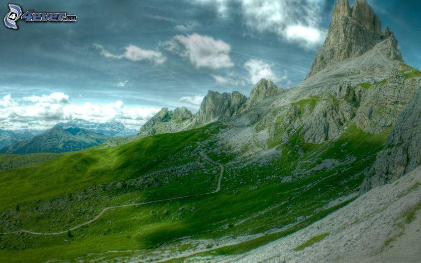 klippigt berg