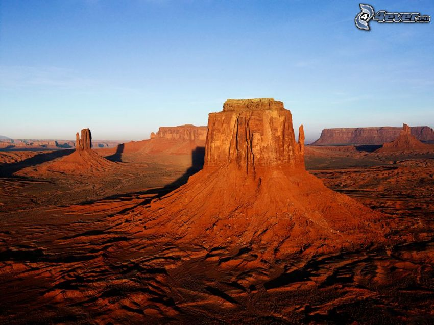 Monument Valley, öken, USA, klippor