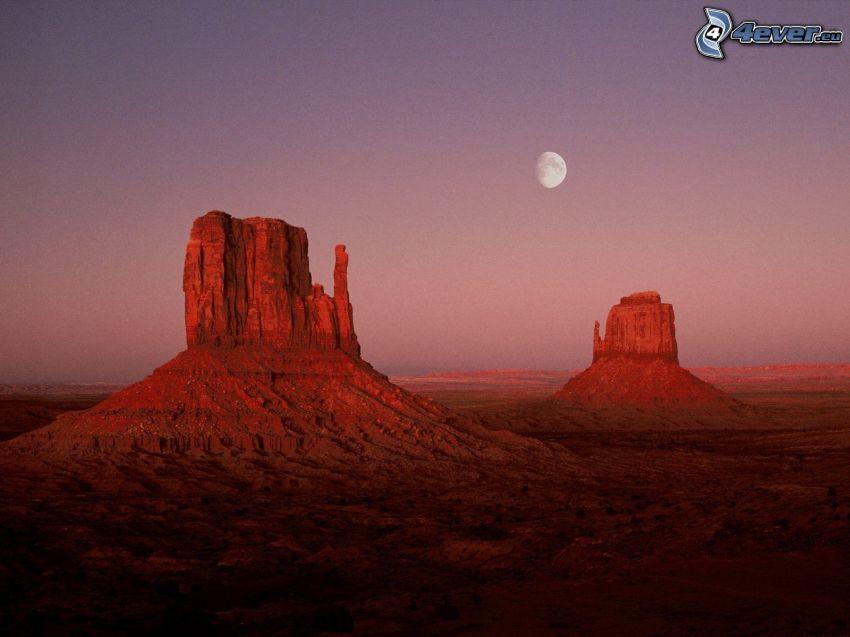 Monument Valley, Utah, USA, Månen