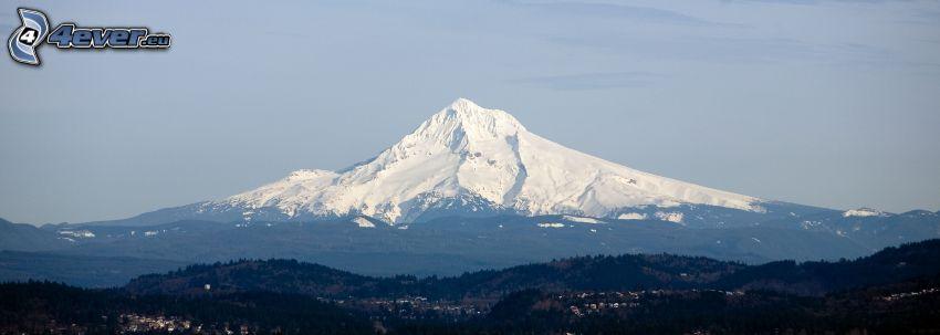 Mount Hood, snöigt berg