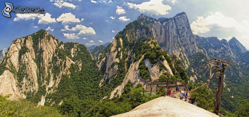 Mount Huang, klippiga berg