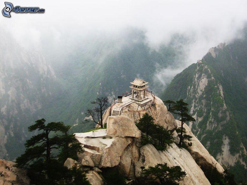 Mount Huang, utsikt, klippiga berg