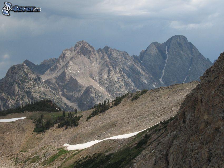 Mount Moran, Wyoming, klippiga berg