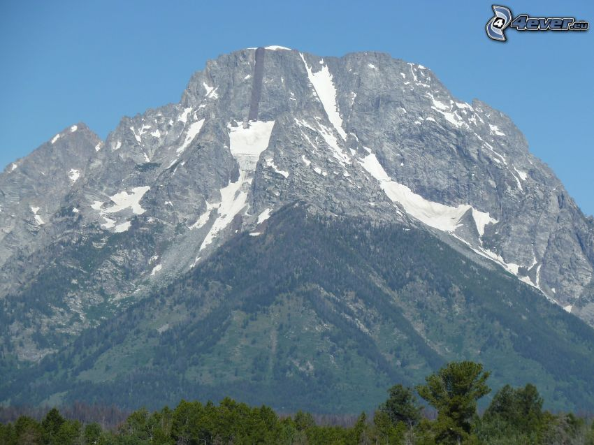 Mount Moran, Wyoming, klippigt berg