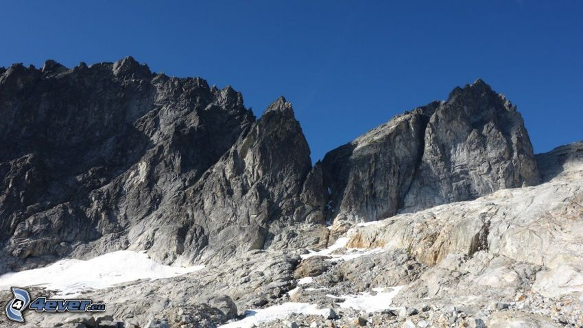 Mount Wilber, klippiga berg